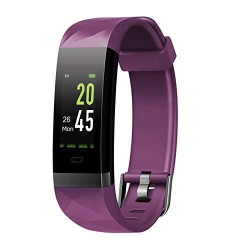 Letsfit Fitness Armband Farbbildschirm mit Pulsmesser, Fitness Tracker IP68 Wasserdicht 0,96 Zoll Aktivitätstracker Schrittzähler Pulsuhren Smart Watch für Herren Damen MEHRWEG PL
