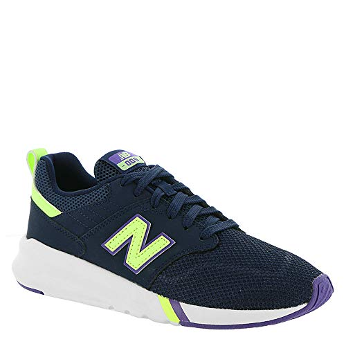 New Balance Women's 009 Modern Classic Pigment/Bleached Lime Glo 6 Wide US