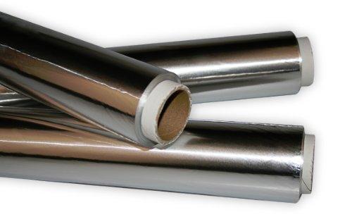 Industriefolie aus Aluminium - Alufolie 31,5cm x 50m, Dicke 20my - 2er Set