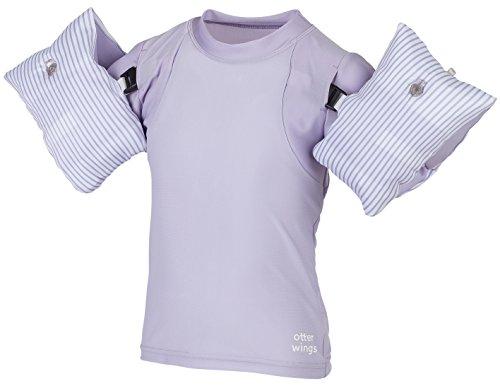 Otter Wings - Camiseta de Manga Corta para niños con flotación (alas de Agua y alas UPF), 2-4 Años, Island Orchid