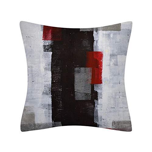PPMP Funda de Almohada geométrica Abstracta Simple decoración del hogar Moderna sofá Funda de cojín de cabecera Funda de Almohada Abrazo A24 45x45 cm 2pcs