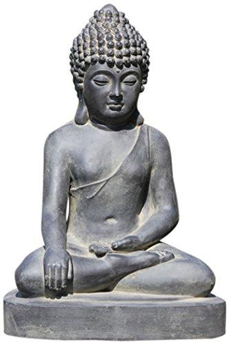 Stone-Lite Drop 401lz Bouddha Assis Statue d'emballage Mail-Order, Noir, 43 x 31 x 60 cm