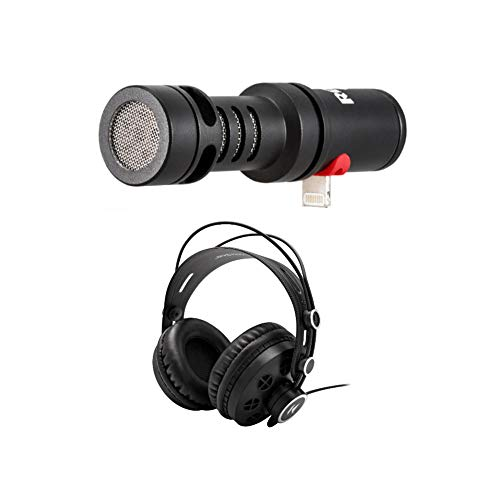 Rode VideoMic Me-L Directional Microphone with Knox Open-Back Studio Headphones (2 Items)