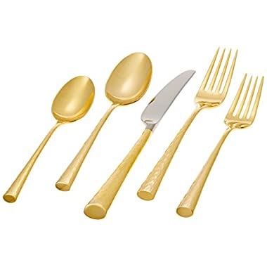 Lenox Marchesa Couture 5-Piece Place Setting, Imperial Caviar Gold
