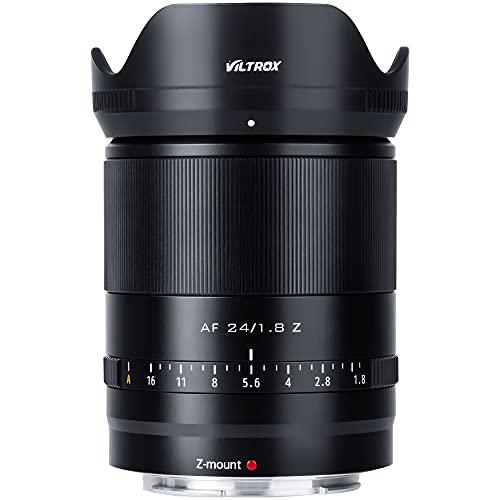 VILTROX AF - Objetivo gran angular F1.8 (24 mm, enfoque automático, compatible con Nikon Z Mount (formato completo, compatible con APS-C)