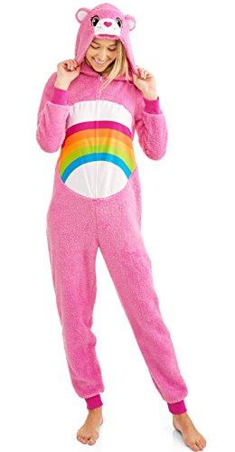 Care Bear Cheer Pink Women's Union Suit Pajama Costume (2X 18W/20W)