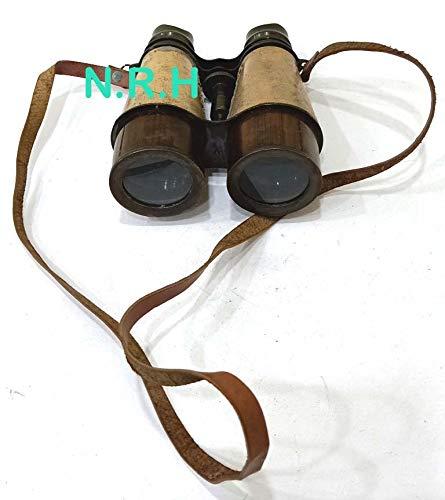 Réplica náutica Hub Antiguo Marino Victoriano prismáticos Hecho a Mano cinturón de Cuero Pulido, 6 Pulgadas, latón