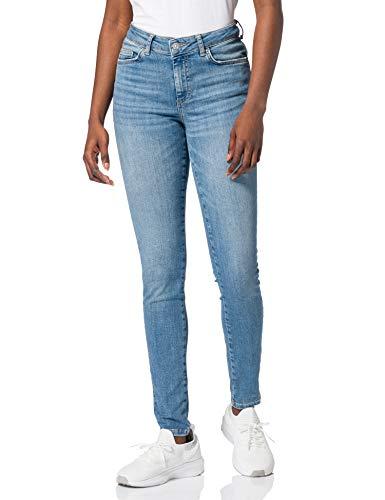 PIECES Female Slim Fit Jeans Mid Waist L30Light Blue Denim