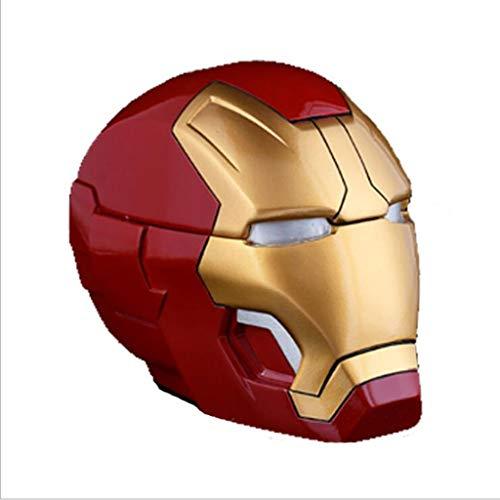 Xiaoli Posacenere Posacenere con Coperchio The Avengers Iron Man Mask Helme Resin Hand Make Ashtray Container Home Outdoor Christmas Regalo di Halloween Sigarette Posacenere (Color : Gold)