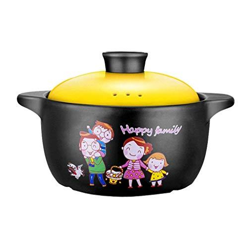 YWSZJ Cerámica for Horno, cazuela, arroz de Alta Temperatura Resistencia al Fuego del hogar Sopa de Olla de Cocina Utensilios (Color : Yellow)