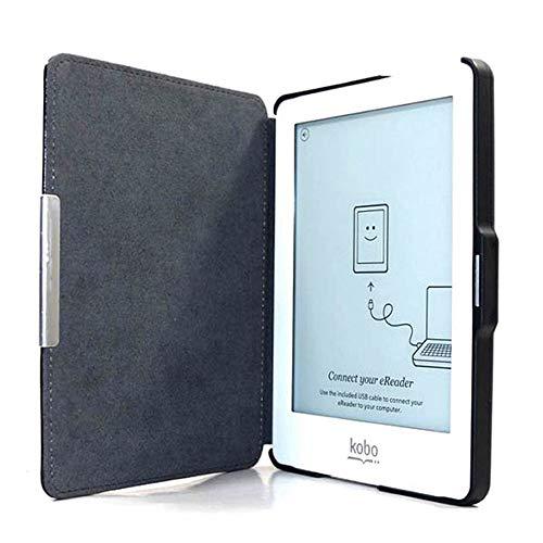 BAQI Custodia Protettiva per Lettore di eBook Custodia Magnetica Sottile Folio Custodia Protettiva in Pelle Rigida per KOBO GLO