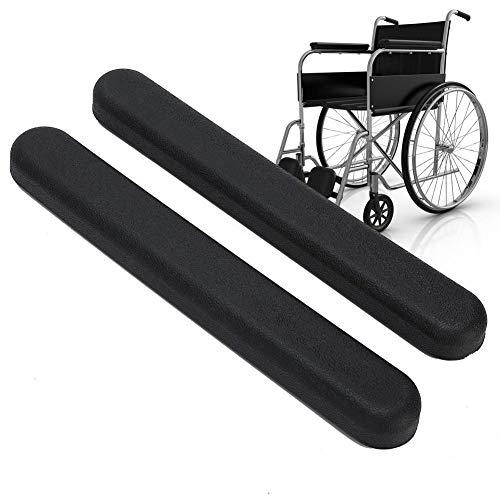 Apoyabrazos para silla de ruedas, accesorio de repuesto con apoyabrazos acolchados para silla de ruedas con tornillo para silla de oficina El juego alivia la presión del codo