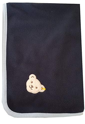 Steiff Baby Fleecedecke Geschenkbox Teddy (Black Iris)