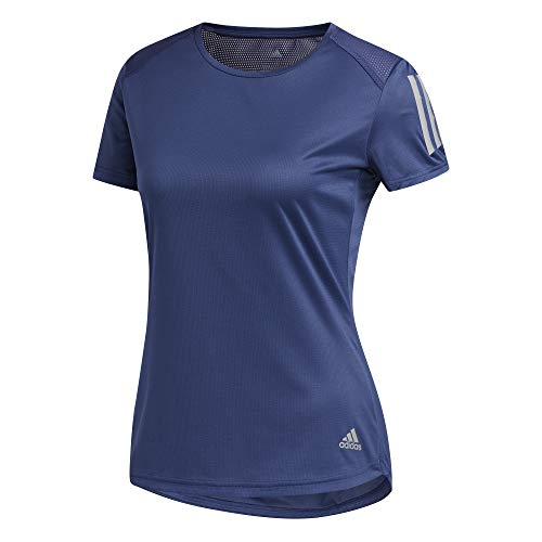adidas Womens Own The Run T-Shirt, Tech Indigo, L
