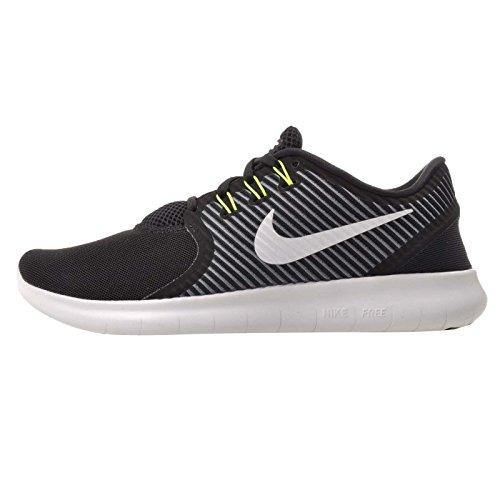 Nike Womens Shoes Free RN Commuter Running lightweight Sneaker (8, Black/Off White/Dark Grey/Volt)