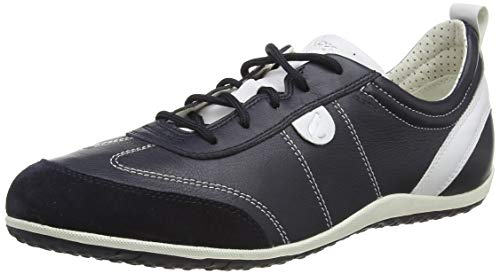 Geox Damen D Vega a Sneakers, Blau (NAVYC4002), 41 EU