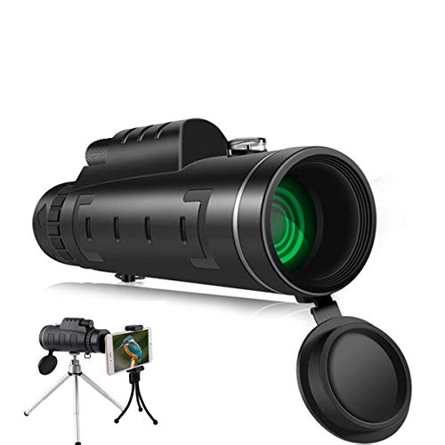 Monocular Telescope, 16x52 High Power Telescope,Dual Focus Monocular Scopes- Waterproof, Low Light Night Vision, BAK4 Prism Lens with Clip&Tripod for Outdoor Bird Watching Hunting Hiking (1250)