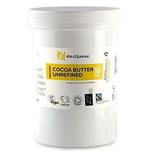 Naissance Manteca de Cacao BIO n. º 303 – 500g - Pura, natural, certificada ecológicamente, vegana, no OGM - Ideal para recetas cosméticas DIY.