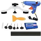 Visone Dent Repair Kit Herramientas, Quita Abolladuras Coche con Pistola de Pegamento termofusible, Tirador de Puente, Martillo de Goma y Elevador de abolladuras, etc.