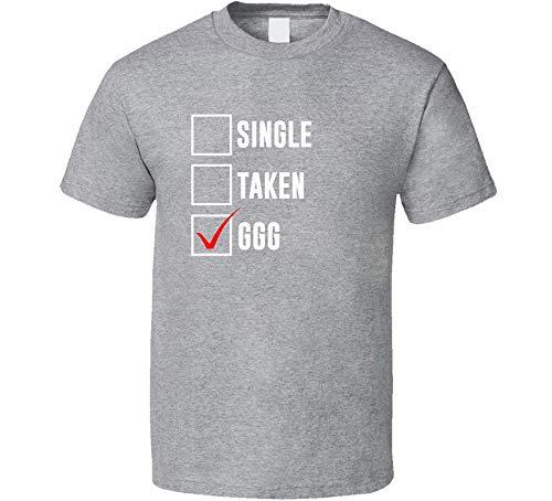 Preisvergleich Produktbild ADSION Single Taken G G G G G Gennady Golovkin Boxing Guys T-Shirt Sport Grau Gr. XL,  Schwarz