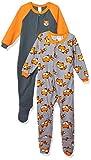 Gerber Baby Boys 2-Pack Blanket Sleeper, Orange/Grey fox, 6-9 Months