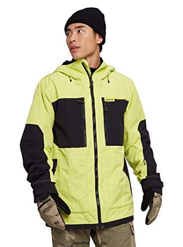 Burton Mens Frostner Jacket, Limeade/True Black, XX-Large