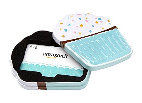 Carte cadeau Amazon.fr - €75 - Dans un coffret Cupcake