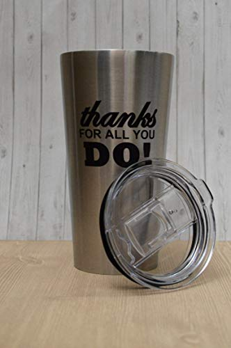 12-Piece Thank You Tumblers/Employee Appreciation Thank You Tumbler/Corporate Thanks For All You Do Stainless Steel Travel Mugs/Teacher Appreciation Gift Tumbler