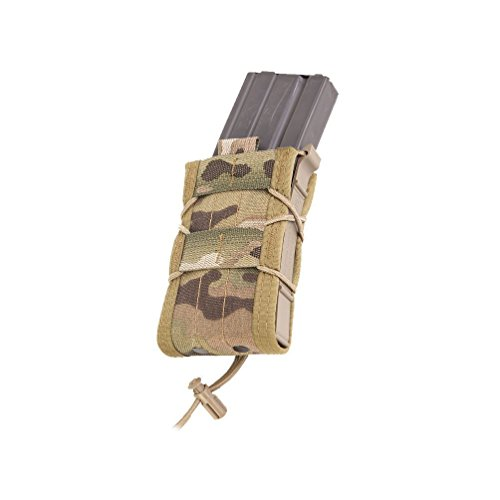 High Speed Gear Single Rifle Taco Pouch | Universal Rifle Magazine Holster | Rapid Response and MOLLE Compatible (Multicam, Two Pack)