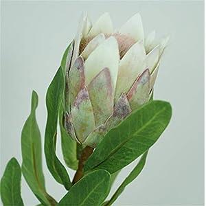 Skyseen 3pcs Artificial Protea Cynaroides Silk Flower for Home Wedding Indoor Outdoor Arrangement Decoration