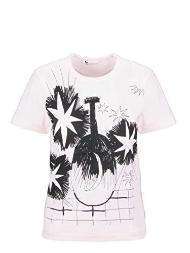 Comme des Garçons Luxury Fashion Damen RDT0140512PINKBLACK Rosa Baumwolle T-Shirt | Herbst Winter 19