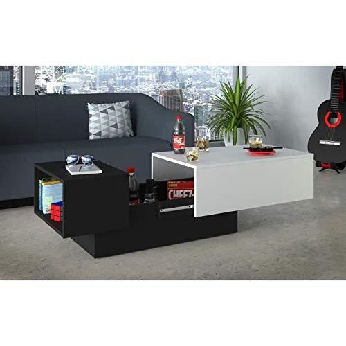 Générique Soda Table Basse 116/150x51 cm - Noir et Blanc