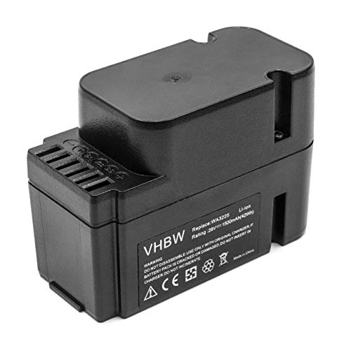 vhbw Li-Ion batería 1500mAh (28V) para Robot Worx Landroid M1000 WG791E.1, M1000i WG796E.1, M500 WG754E, M800 WG790E.1 por WA3225, WA3565.
