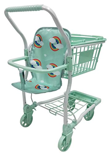 Roma Rupert Toy Shopping Trolley Suitable from 24 months - mint Roma The Rupert shopping trolley measures 62cm from the floor to the handle. Removable Shopping basket Available in primrose or mint - Unique Rainbow Design 3