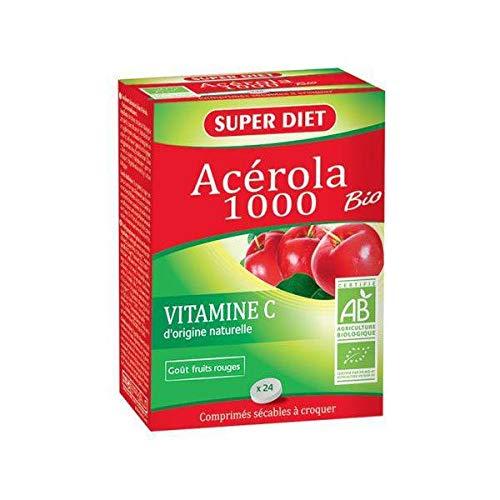 SUPER DIET Acérola 1000-24 comprimés Bio -