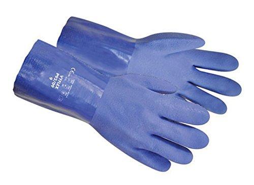 Polyco Vyflex P93 Gants résistant aux produits chimiques avec revêtement en PVC, taille Choix, nouveau Stock, UK Size 10 XL, bleu, 1