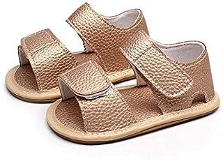 Vinjeely Baby Girls Summer Shoes Fashion Tassels Soft Sole Velcro Sandal Bow Headband Set