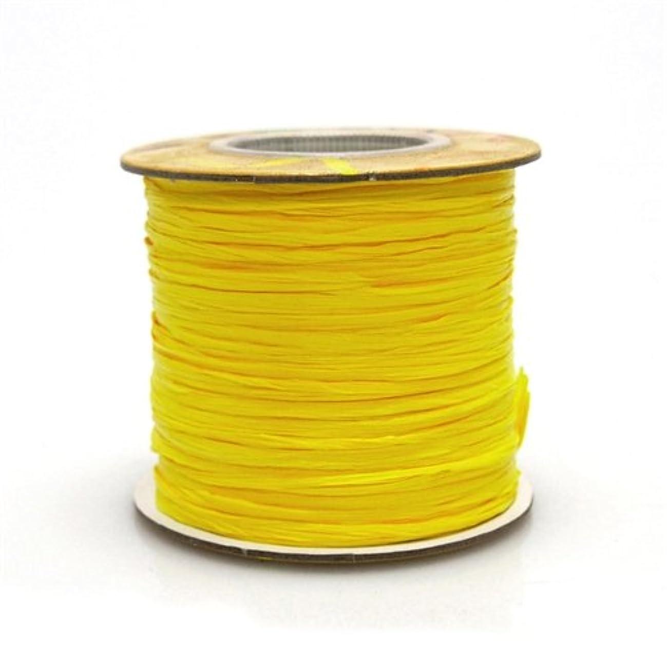 Homeford Firefly Imports Matte Raffia Ribbon, 1/4-Inch, 100 Yards, Yellow, 1/4