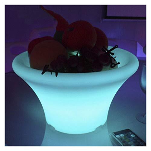 cjcaijun Secchio di Ghiaccio Notte Luci Colorate World LED Branzing Bilancio Secchiello Ghiaccio LED Hotel Tavolo da Pranzo Tavolo da Pranzo Sofa