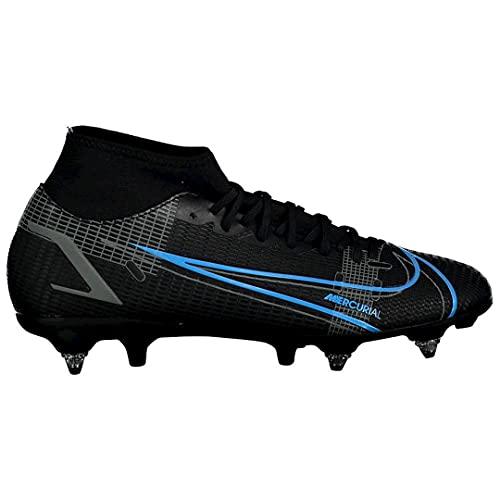 Nike Mercurial Superfly 8 Academy SG-PRO AC, Scarpe da Calcio Unisex-Adulto, Black/Black-Iron Grey, 41 EU