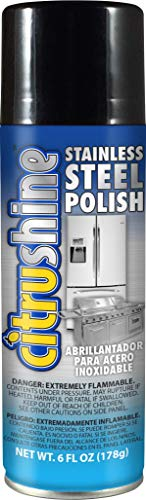 CitruShine 6 Oz Stainless Steel Polish - Cleans, Polishes, Preserves, and Protects All Stainless Steel Surfaces