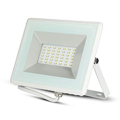 V-Tac VT-4031 Faro LED 30W Esterni Bianco con Vetro IP65 2550Lm Luce Naturale 4000K 30 W