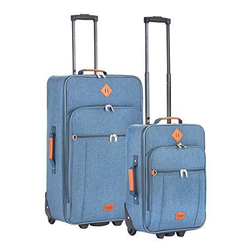 Travelz Hipster reisbagage kofferset 2-delig trolleyset koffer