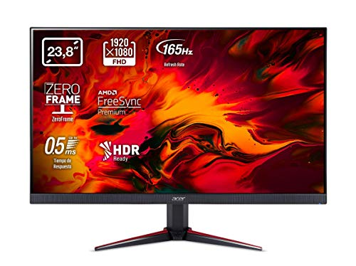 Acer Nitro VG240YSbmiipx 23.8 inch FHD Gaming Monitor (IPS Panel, FreeSync, 165Hz, 1ms, DP, HDMI, Black)