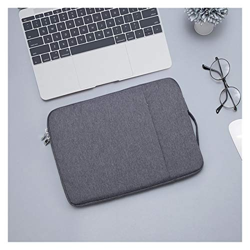 Waterproof Laptop Bag 12 13 14 15 15.6 Inch Universal Notebooks Case Sleeve for Macbook Air Pro Handbag Briefcase Bags Pouch Men (Color : Dark grey, Size : 15.6 inch)