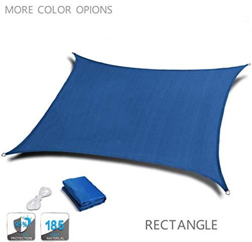 HYISHION Cool Area Voile d'ombrage rectangulaire Une Protection des Rayons UV, résistant et Respirant,Rectangular Blue,3 * 4m