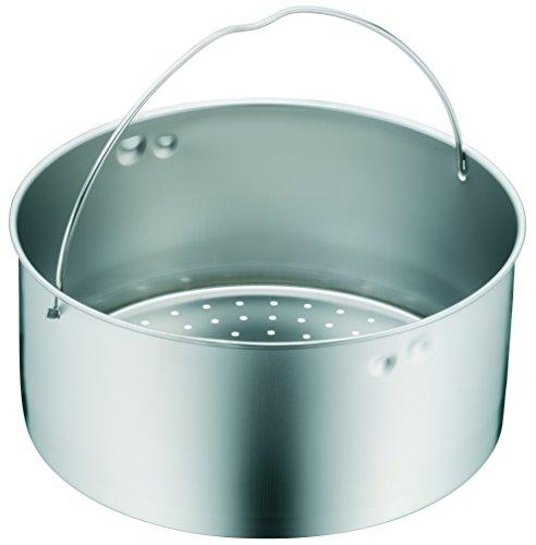 WMF Schnellkochtopf - Zubehör, Dampfer-Einsatz 10,3 cm, gelocht, für Schnellkochtöpfe 3,0 - 8,5 l, 22 cm, Cromargan Edelstahl, spülmaschinengeeignet