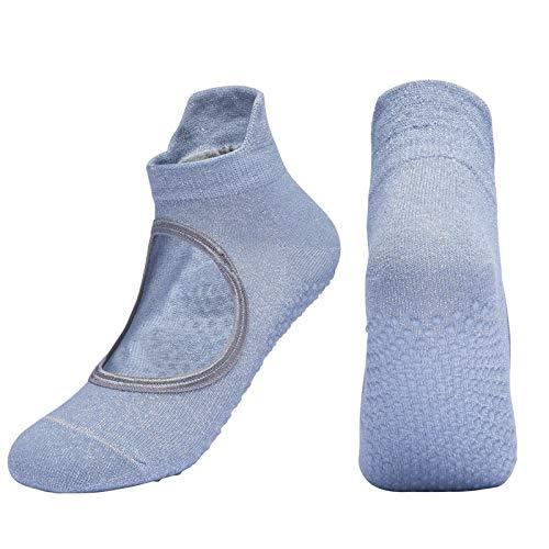 Wdonddonyjw Calcetines de Yoga Un Par De Profesionales De Yoga Antideslizantes Calcetines, Deportes Respirables De Pilates, Calcetines Ballet De La Mujer (Color : Gray)