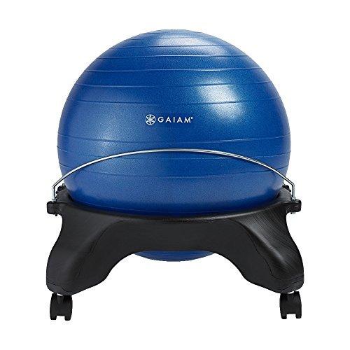 Gaiam Classic Backless Balance Ball Chair – Exercise Stability Yoga Ball Premium Ergonomic Chair...