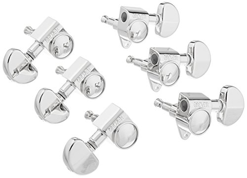 Grover 102-18N Rotomatic 18:1 3 per Side Tuners, Nickel